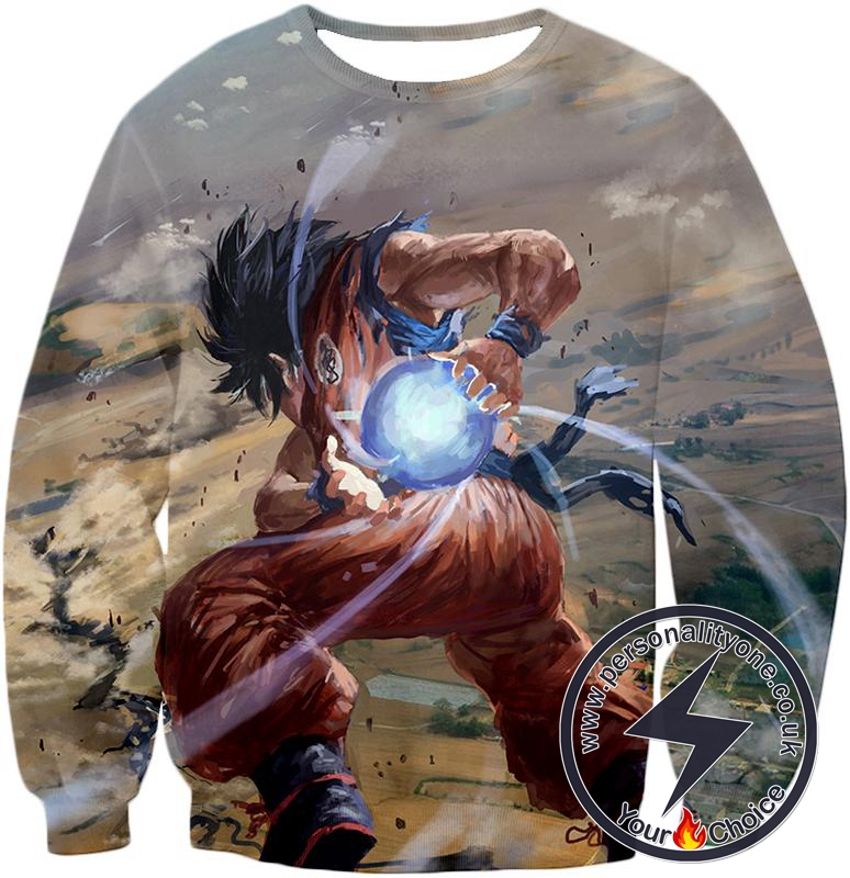 Dragon Ball Super Super Cool Goku Favourite Kame-Hame-Ha Attack Action Graphic Sweatshirt