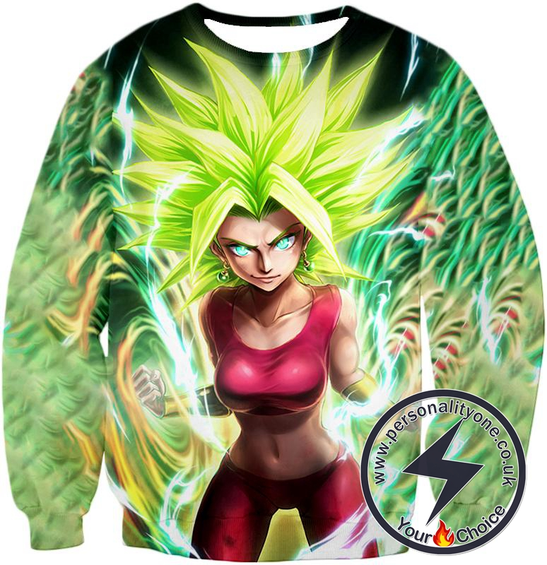 Dragon Ball Super Very Cool Female Legendary Super Saiyan Kale Awesome Anime Graphic Sweatshirt