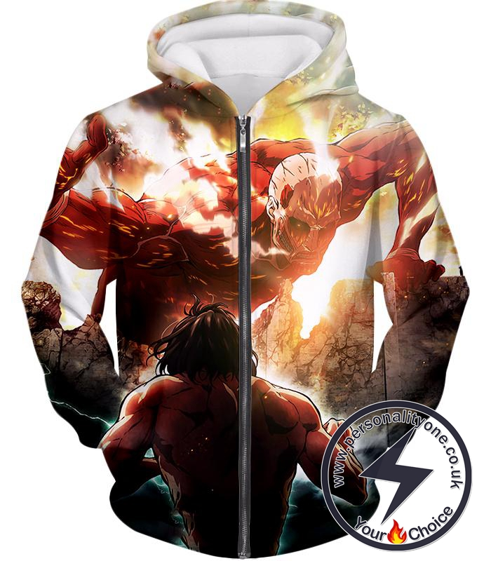 Attack on Titan Cool Captain Levi Action Still Zip Up Hoodie