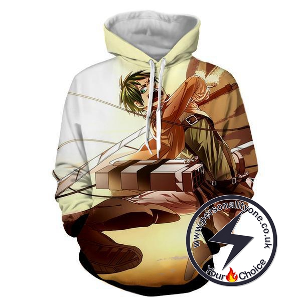 Attack On Titan - Eren Yeager 3D - Attack On Titan Hoodies